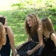Group of young teenage girls — Stockfoto