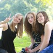 Happy young teenage friends — Stock Photo