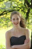 портрет красивой подростка — Стоковое фото