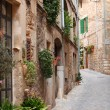 Quaint street of old stone houses — Stock Photo