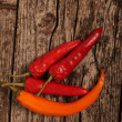 Stock Photo: Red hot chilli peppers