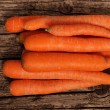 Fresh whole raw carrots — Stock Photo