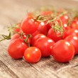 Succulent ripe red cherry tomatoes — Stock Photo