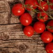 Fresh juicy red cherry tomatoes — Stock Photo