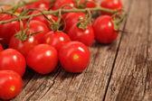 Grappolo di pomodorini su vite — Foto Stock