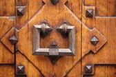 Old wrought iron door knocker — Stock Photo