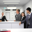 Multiethnic group of young businesspeople — Stock Photo