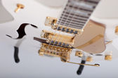 Strings on an electric guitar — Stock Photo