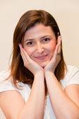 Portrait of a beautiful gentle woman — Stock Photo