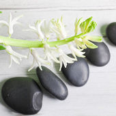 Spa background with massage stones — Stock Photo