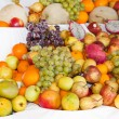 Display of assorted colourful ripe tropical fruit — Stock Photo