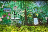 Colourful tropical garden — Stock Photo