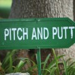 Pitch and Putt signpost — Stock Photo #42353689