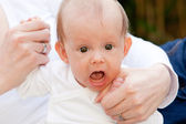 Cute little baby having a tantrum — Stock Photo