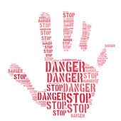 Hand Of Caution — Stockfoto