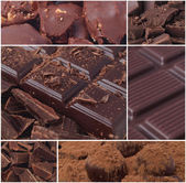 шоколад colage — Стоковое фото