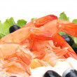 Appetizing shrimps — Stock Photo