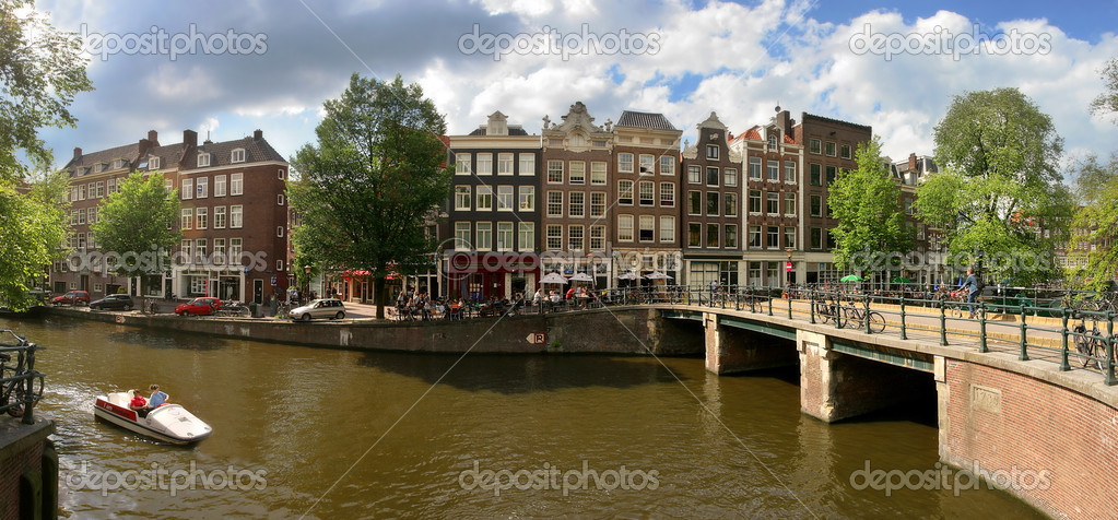 Panoramic cityscape view of Amsterdam, Netherlands.  Stock Photo #12418002