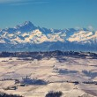 Piedmont snowy hills. — Stock Photo