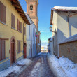 Narrow street. Montelupo Albese, Italy. — Stock Photo