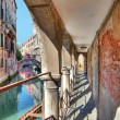 Old passage along canal. Venice, Italy. — Stock Photo