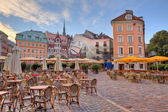 City square. Riga, Latvia. — Stock Photo