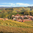 Autumnal view on Barolo. Piedmont, Italy. — Stock Photo