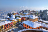 Small town under the snow. Diano D — Foto de Stock