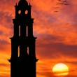 Church silhouette against beautiful sky. — Stock Photo #15837225