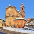 Old church on the road. Piedmont, Italy. — Foto de Stock