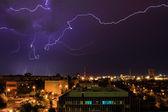 Lightning over Prague. — Stock Photo