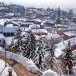 Small town under the snow. Diano D — Stock Photo