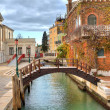 Small canal and house. Venice, Italy. — Stock Photo