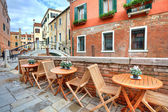 Typical view on small street in Venice, Italy. — Stock Photo