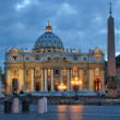Saint Petres Basilica at evening in Vatican. — Stock Photo