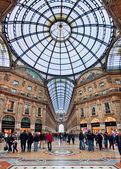 Galleria Vittorio Emanuele II. Milan, Italy. — Stock Photo