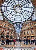 Galleria Vittorio Emanuele II. Milan, Italy. — Stock Photo