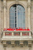 Cardinals on balcony of Saint Peter — Stock Photo