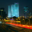 Stock Photo: Night view of Tel Aviv, Israel.