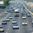 Freeway traffic. Tel Aviv, Israel. — Foto Stock