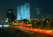 Night view of Tel Aviv, Israel. — Stock Photo