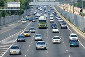 Freeway traffic. Tel Aviv, Israel. — Stock Photo