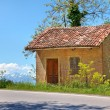 Small rural house. Piedmont, Italy. — Stockfoto