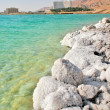 Salty shores on Dead Sea in Israel. — Stock Photo