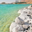 Salty shores on Dead Sea in Israel. - Stock Photo