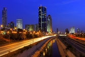 Night view on Tel Aviv, Israel. — Stock Photo