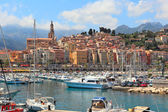 Old town of Menton, France. — Stock Photo