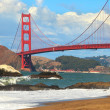 View on Golden Gate Bridge from Baker Beach. — Stock Photo #23497013