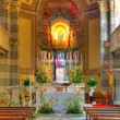 Catholic church interior view. Alba, Italy. — Foto Stock