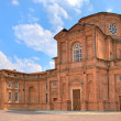 Brick church in Venaria Reale, Italy. — Foto Stock
